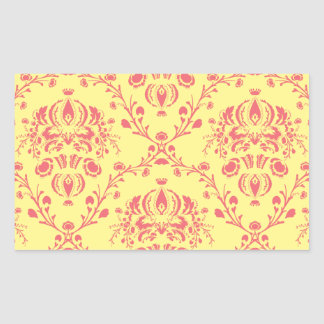 Butter and Cranberry Damask Sticker