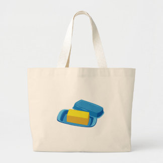 Butter Dish Large Tote Bag