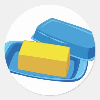 Butter Dish Round Sticker