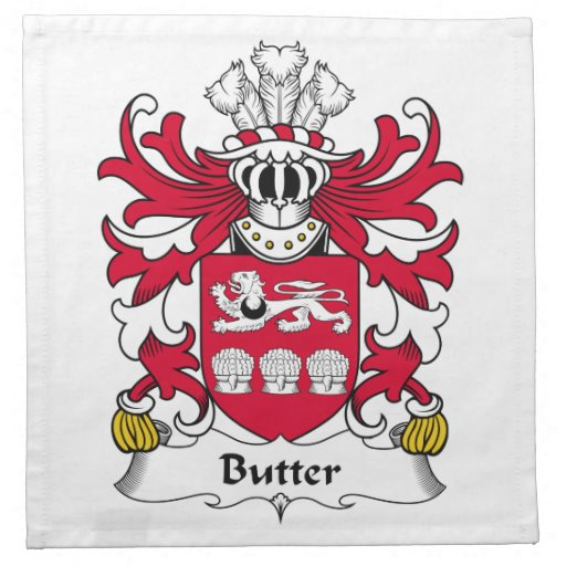 Butter Family Crest Printed Napkin