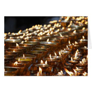 Butter Lamps Greeting Card