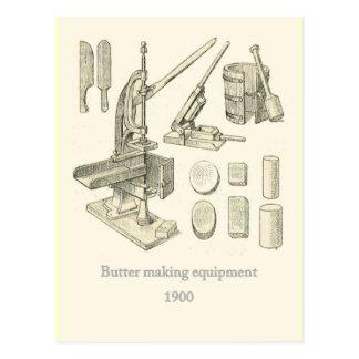 Butter making Equipment Postcard