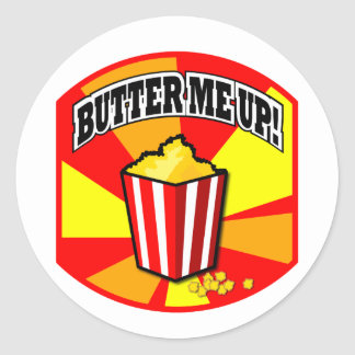 Butter Me Up! Round Sticker