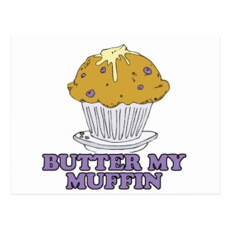 butter my muffin postcard