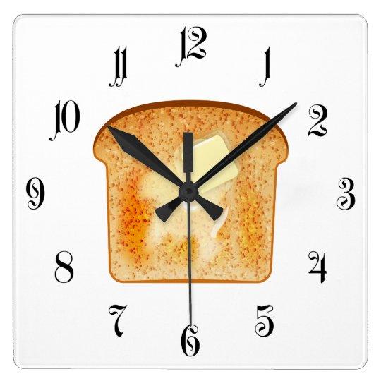 Butter on toast wallclock