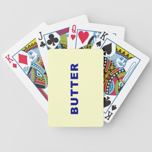 Butter Bicycle Playing Cards