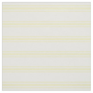 Butter Yellow and White Ticking Stripes Fabric