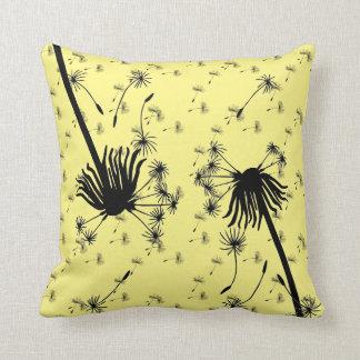 Butter yellow Dandelion 🍃 Decor  lighthouse route Throw Pillow