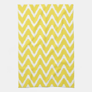 Butter Yellow Southern Cottage Chevrons Kitchen Towel