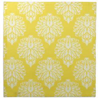 Butter Yellow Southern Cottage Chevrons Napkin