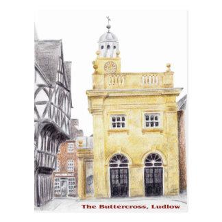 Buttercross, Ludlow Postcard