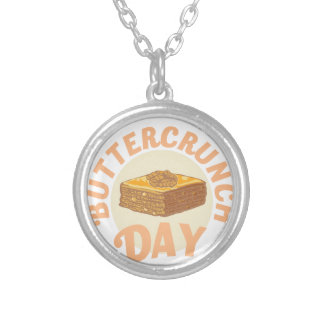 Buttercrunch Day - Appreciation Day Silver Plated Necklace