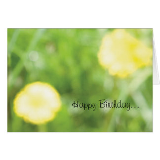 Buttercup Birthday Card