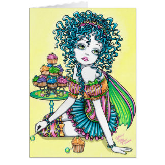 Buttercup Candy Cup Cake Fairy Card