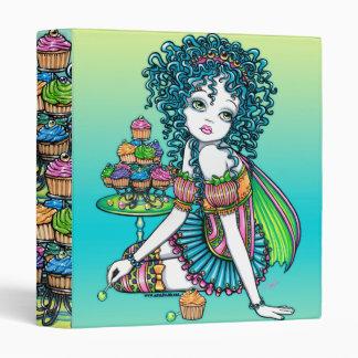 """""""Buttercup"""" Cup Cake Fairy Art Binder Notebook"""