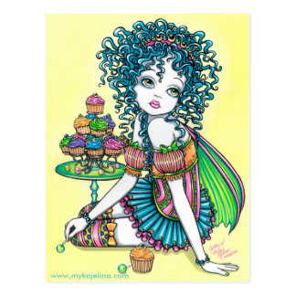 Buttercup Fairy Cup Cake Art Postcard