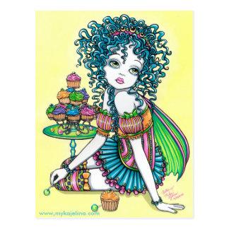 Buttercup Fairy Cup Cake Art Postcard
