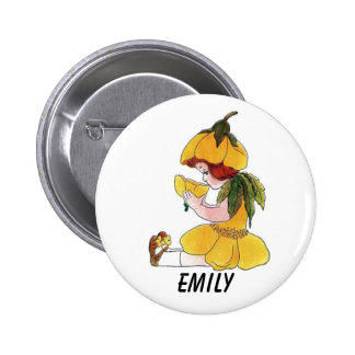 Buttercup Flower Child Funny Cute Little Girl 2 Inch Round Button