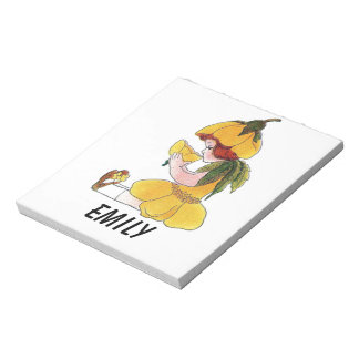 Buttercup Flower Child Funny Cute Little Girl Notepad