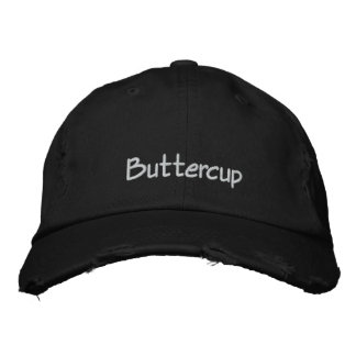 Buttercup Pet Name Cap / Hat Embroidered Baseball Caps