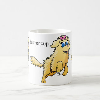 Buttercup the Golden Retriever from The WOOF Books Coffee Mug