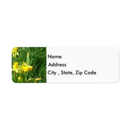 Buttercup Yellow Daffodils Return Address Label