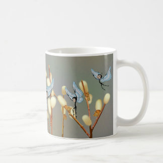 """Butterfairies & Pussy Willow""  Mug"