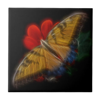 Butterfaly Fractal Tiger Swallowtail Tile