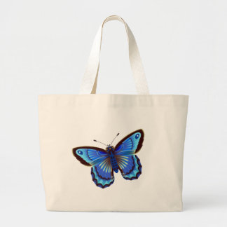 Butterfiy blue large tote bag