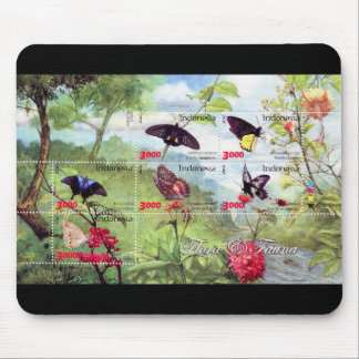 Butterflies 2016 stampsheet of Indonesia Mouse Pad