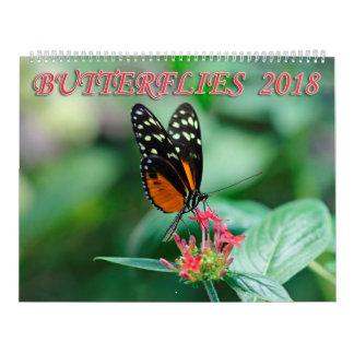 Butterflies 2018 calendars