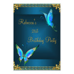 Butterflies 21st Birthday Party Blue Teal