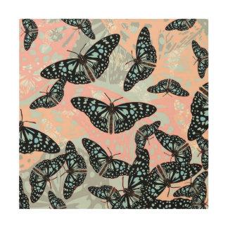 Butterflies #2 - Wood Canvas