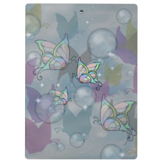 Butterflies and bubbles -- (Mushroom club) Clipboards