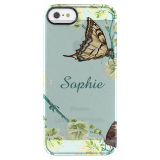 Butterflies and Cherry Blossoms Personalized Clear iPhone SE/5/5s Case