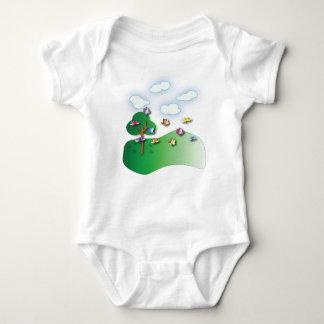 Butterflies and Dragonflies fleece Baby Onsie Baby Bodysuit