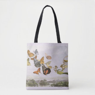 butterflies and fairies in flight tote bag