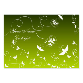 Butterflies and flowers business cards