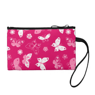 Butterflies and flowers coin purse