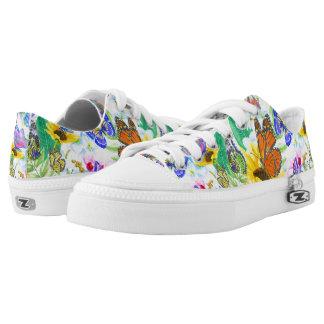 Butterflies and Flowers Low-Top Sneakers