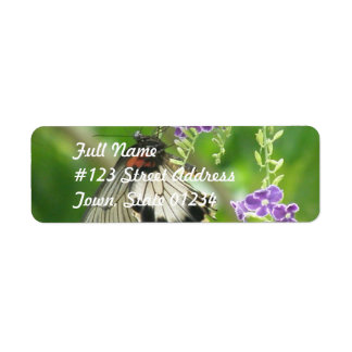 Butterflies and Flowers Mailing Label Return Address Label