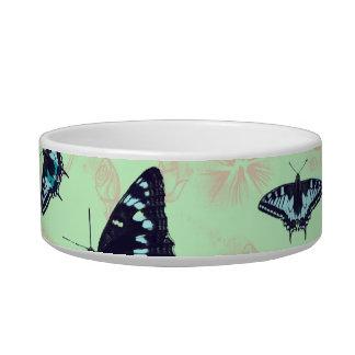 Butterflies and flowers pet bowls