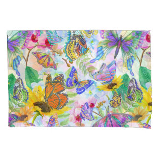 Butterflies and Flowers Pillowcase