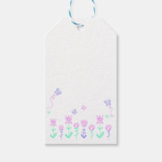 Butterflies and flowers - Pink & Purple Tag Pack Of Gift Tags