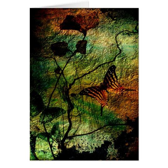 Butterflies and Grunge Card