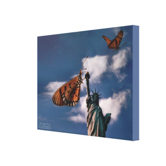 Butterflies and measure Liberty Canvas Print