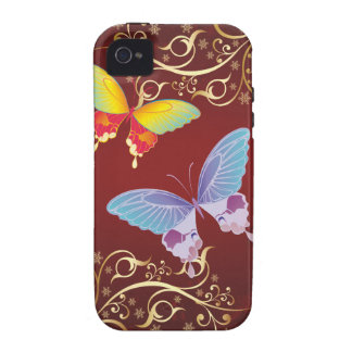 Butterflies and Ornate Patterns iPhone 4 Covers