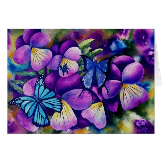 Butterflies and Pansie's Card