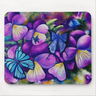 Butterflies and Pansie's Mouse pad