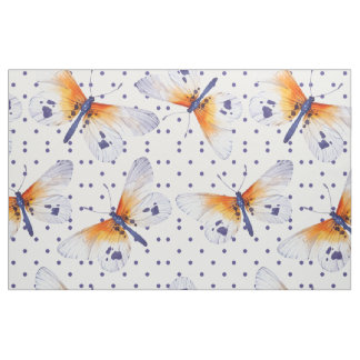 Butterflies And Polka Dots Fabric